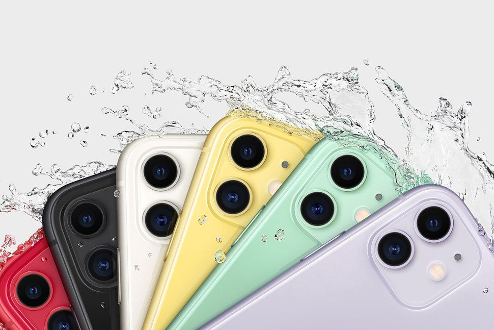 Six different colors of iPhone 11