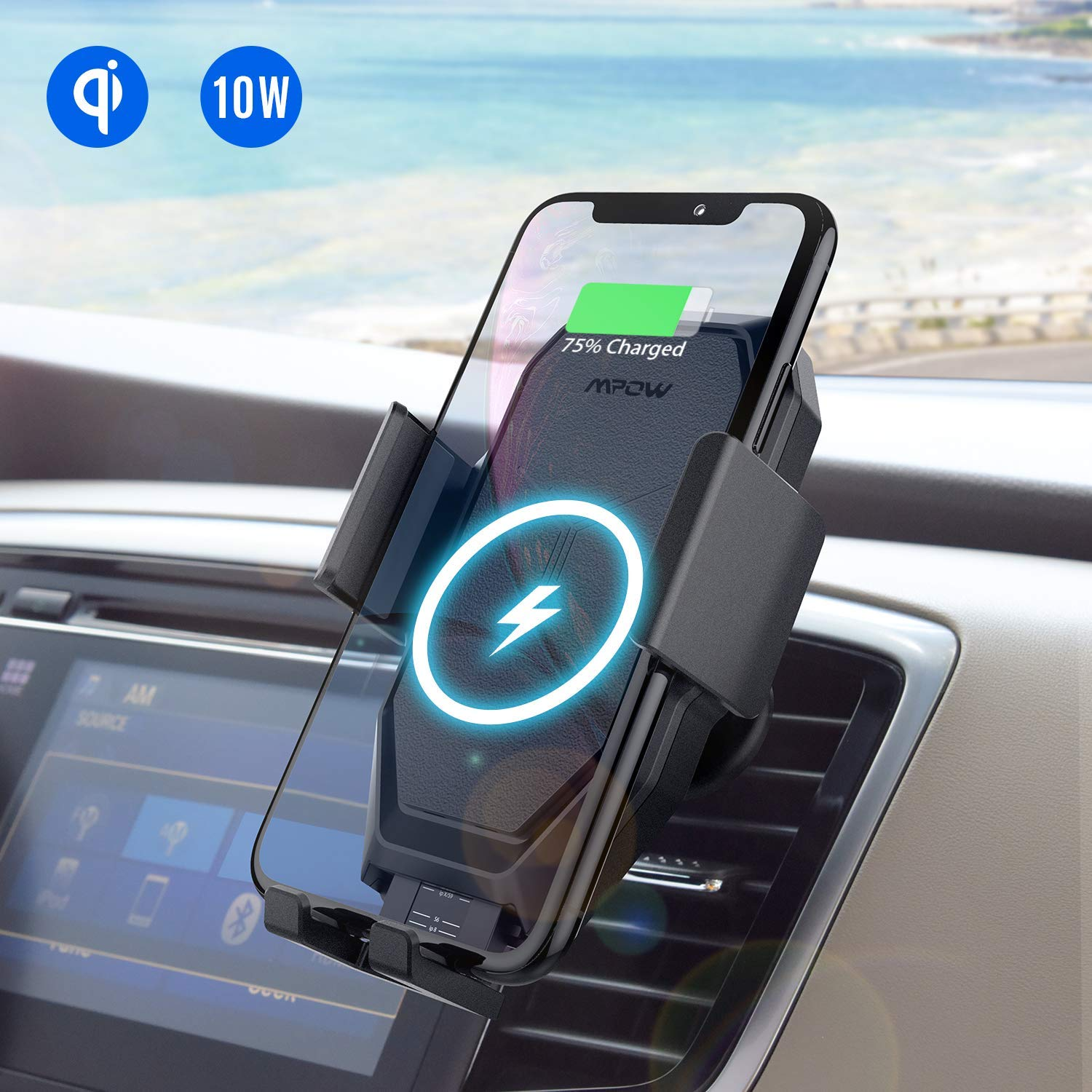 Car Phone Holder with Wireless Charging Facility