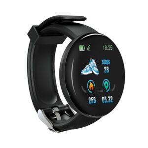 D18 IP65 Waterproof Smart Watch; Compatible with iOS and Android