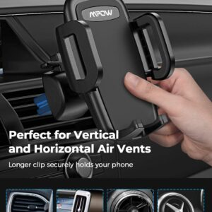 Car Phone Holder, Air Vent Phone Mount with 3-Level Adjustable Clamp